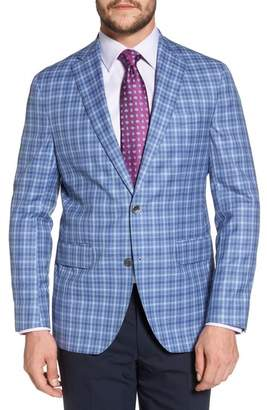 David Donahue Arnold Classic Fit Plaid Wool Sport Coat