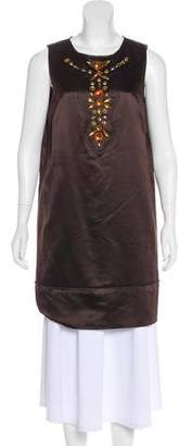 Milly Wool & Silk-Blend Dress