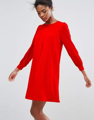 Traffic People Long Sleeve Shift Dress