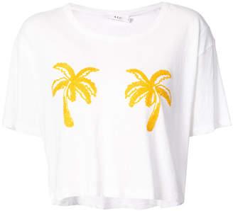 A.L.C. palm-tree print T-shirt