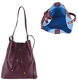 Lodis Italian Leather Large Drawstring Bag- Halina