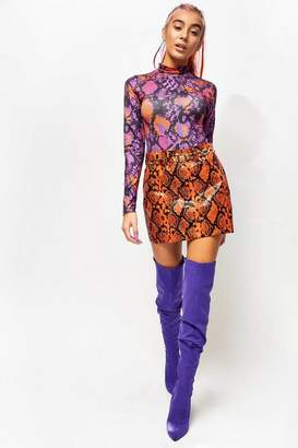 Jaded London **Snake PU Skirt