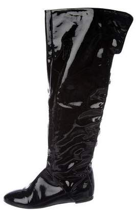 Alejandro Ingelmo Patent Leather Over-The-Knee Boots