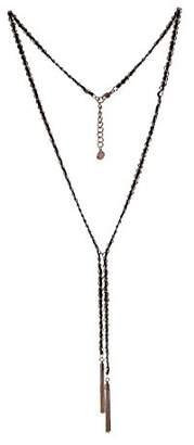 BCBGeneration BCBG Generation 12k Black Tassel Y-Shaped Necklace