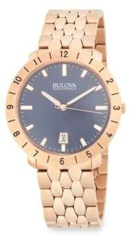 Bulova Moonview Stainless Steel Bracelet Watch