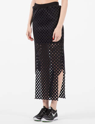 Andrea Crews Black 3D Mesh Long Tube Skirt