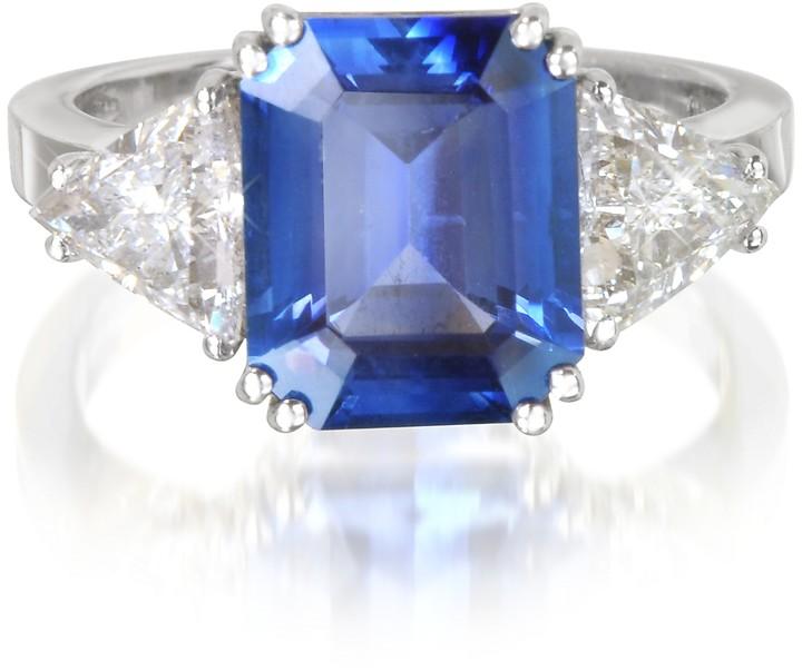 Forzieri Sapphire and Diamond White Gold Ring