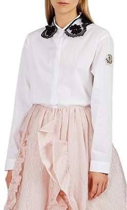 Simone Rocha 4 MONCLER Women's Embellished Cotton Poplin Blouse