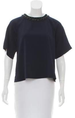 Rebecca Taylor Embellished Knit Top w/ Tags