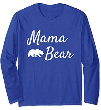 Mama Bear Long Sleeve Shirt Women Papa Bear Mama Bear Shirts