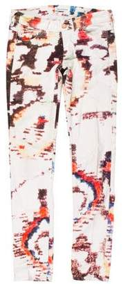 Isabel Marant Abstract Print Low-Rise Jeans