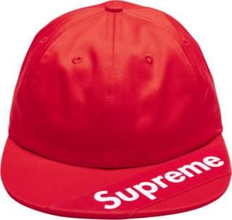 Supreme Visor Label 6 - Panel - 'SS 18' - Red