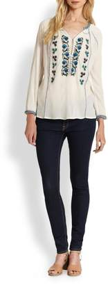 Joie Chava Embroidered Blouse