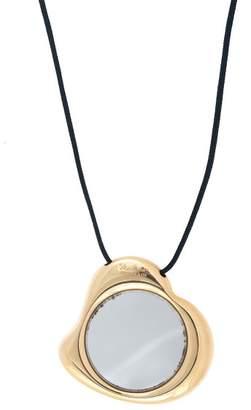 Tiffany & Co. Elsa Peretti 18k Yellow Gold Full Heart Mirror Pendant Necklace