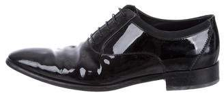 Salvatore Ferragamo Patent Leather Round-Toe Oxfords
