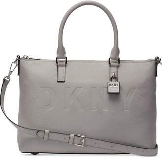 DKNY Commuter Leather Top Zip Satchel