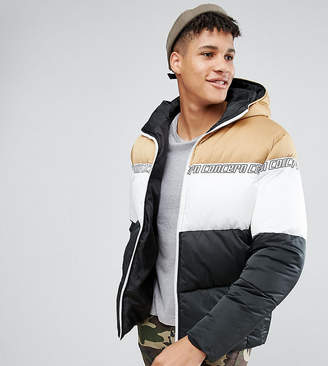 Asos (エイソス) - Asos Design ASOS TALL Puffer Jacket With Hood in Color Block