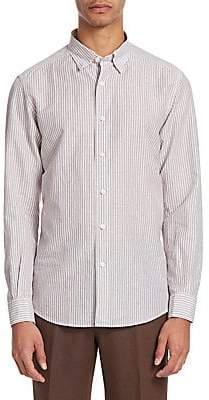 Ermenegildo Zegna Men's Striped Button-Front Shirt