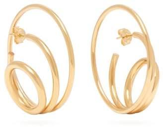 Charlotte Chesnais Ricoche 18kt Gold Plated Hoop Earrings - Womens - Gold