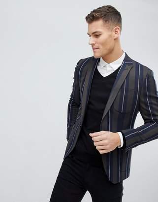 Asos DESIGN Skinny Blazer In Bold Stripe