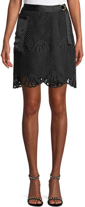 Self-Portrait Self Portrait Scalloped Crochet Lace Mini Skirt