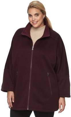 Details Plus Size Sweater Fleece Poncho Jacket