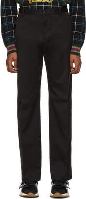 Versace Black Cotton Trousers