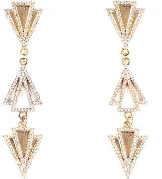 Lulu Frost Odeon Triple-Drop Earrings w/ Crystals