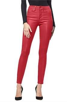 Good American Good Waist Waxed Super High Rise Skinny Jean