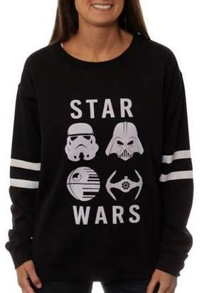 Star Wars Juniors' Distressed Crew Neck Sweatshirt
