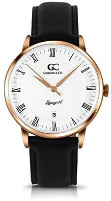 Hudson Gelfand & Co. 36mm Women's Rose Gold with White Dial Leather Minimalist Watch