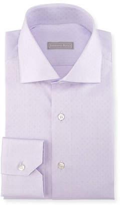 Stefano Ricci Tonal Square Dress Shirt