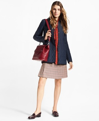 Brooks Brothers Water-Repellent Diamond-Quilted Car Coat