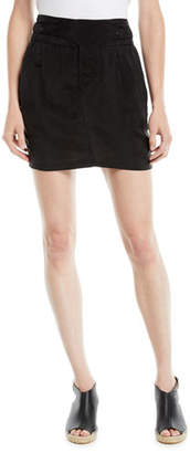 RtA Skylar Pleated Snap-Waist Mini Skirt