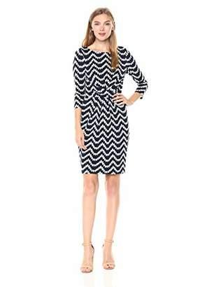 Adrianna Papell Women's Beading Beauty PLEATD Waist Sheath Dress