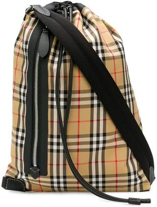 Burberry Haymarket print cross body bag