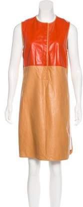 Reed Krakoff Sleeveless Leather Dress
