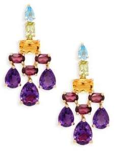 Effy Gemstone 14K Yellow Gold Chandelier Earrings