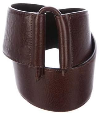 Oscar de la Renta Wide Leather Belt