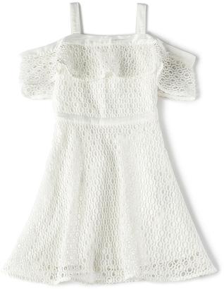 Bardot Junior Mesh Cold Shoulder Dress $70 thestylecure.com