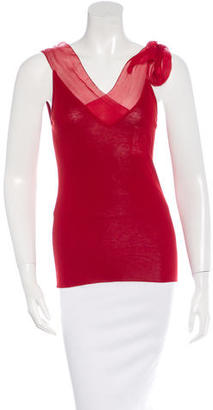 Jean Paul Gaultier Bow-Accented Sleeveless Top $50 thestylecure.com