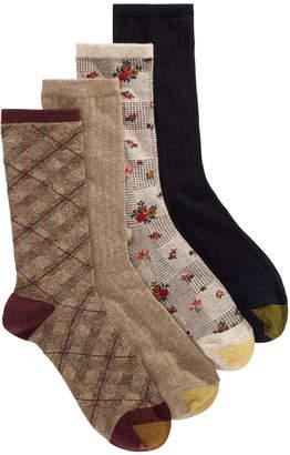 Gold Toe 4-Pk. Glen Plaid Crew Socks 5975F