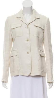 Massimo Alba Linen Blend Notch-Lapel Blazer
