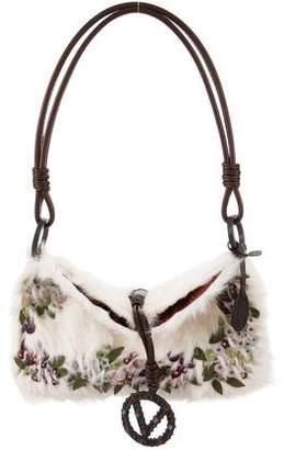 Valentino Fur Embellished Bag