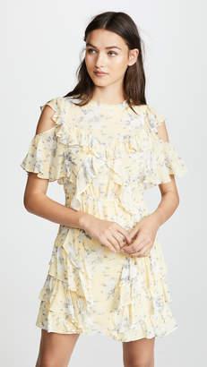 Rebecca Taylor Open Shoulder Lemon Dress