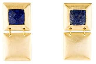 Stephanie Kantis Lapis Flapper Double Drop Earrings