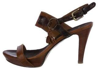 Henry Beguelin Leather Ankle-Strap Sandals
