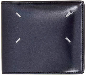 Maison Margiela Black Metallic Patent Wallet