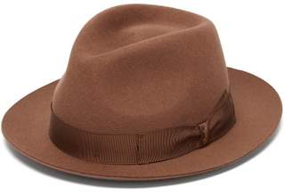 Borsalino Felt Fedora Hat - Mens - Brown