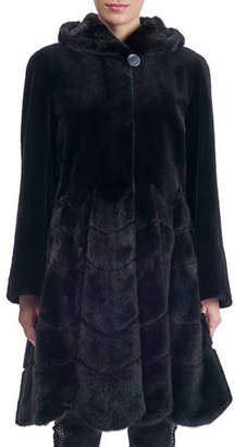 Gorski Sheared Mink Hooded Reversible Coat